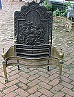 George III-Style Brass and Cast Iron Fire Grate, 19th C