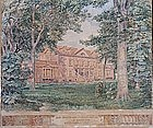 American School Watercolor, attrib. H. Hawley.