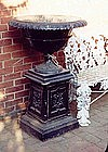 American Cast Iron Urn on Stand, Ca. 1880.