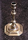 George II Brass Candlestick, mid 18th C
