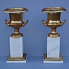 Pair of Ormolu and Marble Urns