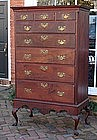 PA Walnut Queen Anne Chest on Frame, Circa 1775.