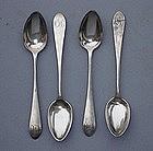 Set of Four Teaspoons, G. Aiken, Baltimore, Ca. 1800