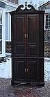 George III Mahogany Corner Cupboard, circa 1770