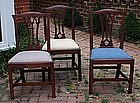Pair of English Provincial Cherry Side Chairs, ca. 1780