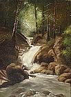 American School Landscape, forest interior, circa 1875