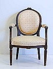 Louis XVI Carved Beechwood Fauteuil, late 18th C