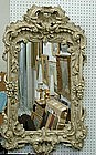 Louis XV-Style Carved and Painted Mirror