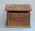 Continental Friezian Carved Foot Warmer, 18th C.