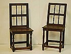 Two Continental Baroque Walnut Side Chairs, 17thC