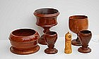 Group of Treenware Articles, 19th/20thC