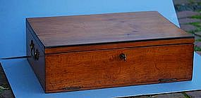 Continental Fruitwood Travelling Box, early 19th C