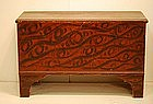 Federal Black and Red Painted Blanket Chest, e. 19thC