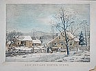 After Currier & Ives, New England Scene, e.20thC