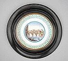 Framed Italian Pottery Tile, late 18th C