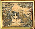American School Watercolor Memorial, dated 1820