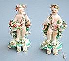 Pair of 18th C English Ceramic Figures