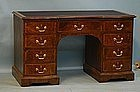 English Victorian Walnut Desk, circa 1860