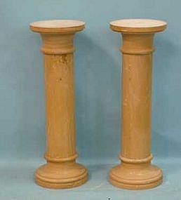 Pair of Sienna Marble Pedestals, 20th C