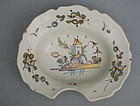 Continental Faience Barber's Bowl, 18th C