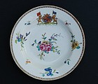 Chinese Export Porcelain Armorial Berry Bowl, Ca. 1760