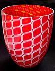 RARE Murano ARCHIMEDE SEGUSO Red '52 LOSANGHE Vase