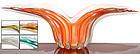 Murano BARBINI 50s GOLD FLECKS Sommerso WING Bowls