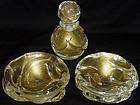 Murano SEGUSO 40s Gold Flecks Bowls + Perfume Bottle