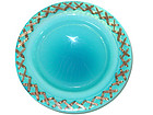Murano TOSO OPAL BLUE Cross Stitch Rim Design Bowl