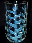 RARE Murano ERCOLE BAROVIER Blue Opal Leaf Vase