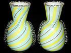 Murano DINO MARTENS Blue Yellow Aventurine Glass Vases