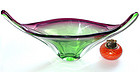 Murano SEGUSO Purple Green SOMMERSO Glass Centerpiece