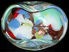 Murano AVENTURINE + SILVER Flecks Multicolor Patch Bowl