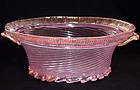 Murano BAROVIER Opalescent PINK Gold Flecks Center Bowl