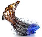 Murano SEGUSO 40s Cobalt SILVER FLECKS Fish Sculpture