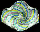 Murano FRATELLI TOSO Rainbow Swirl Centerpiece Bowl