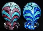 Murano TOSO Pink Blue Cobalt Doorstop Paperweights