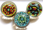 Murano TOSO Millefiori Flower Grapes Leafs Paperweights