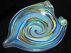 Murano FRATELLI TOSO Opal Color SWIRL Art Glass Bowl