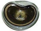 BARBINI SEGUSO Murano BLACK Gold Flecks PULEGOSO Bowl