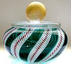 Murano ZANFIRICO Ribbons GOLD FLECKS Vanity Jewelry Box