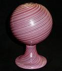 DINO MARTENS Murano FILIGRANA Pink White Specimen Vase
