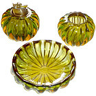 ALFREDO BARBINI Murano SOMMERSO Bowl Lighter Holder SET