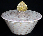 TOSO Murano Gold Flecks VANITY Powder Jewelry Box