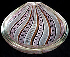 TOSO Murano ZANFIRICO Ribbons PEAR Shaped GEODE Bowl