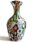 FRATELLI TOSO Murano MILLEFIORI Mosaic Flower Vase 1910