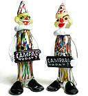 Murano CIRCUS CLOWN Sculptures CAMPARI Advertising Sign