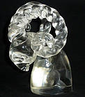 CARTIER Signed Murano RAM Head Sculpture By SEGUSO