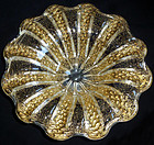 BAROVIER TOSO Murano GOLD FLECKS Large Centerpiece Bowl