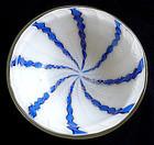 Murano ZANFIRICO Latticino AVENTURINE Twist Ribbon Bowl